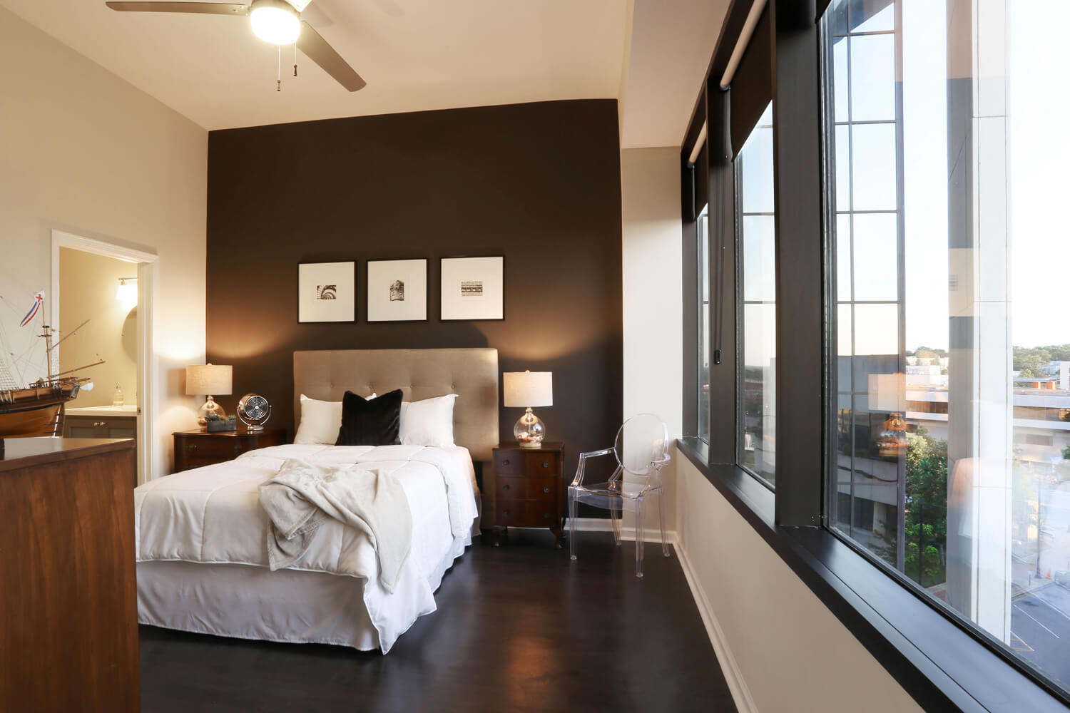 The 40 Four Building Designed by Foshee Architecture – Apartment Bedroom