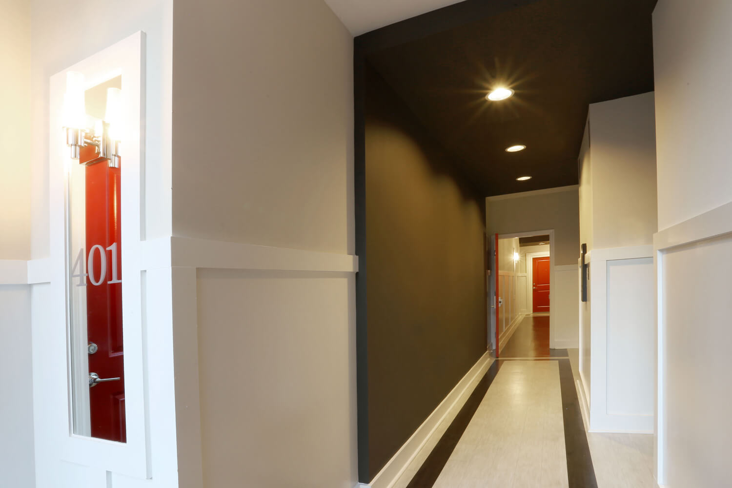 The 40 Four Building Designed by Foshee Architecture – Elevator Lobby