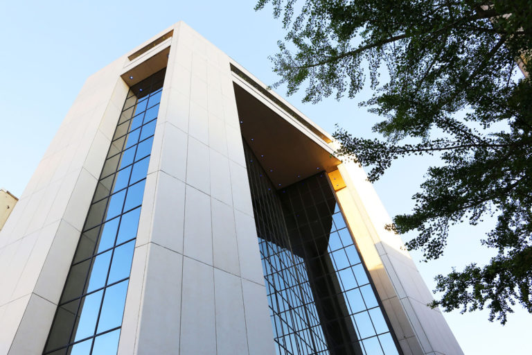 The 40 Four Building Designed by Foshee Architecture – View of the Exterior