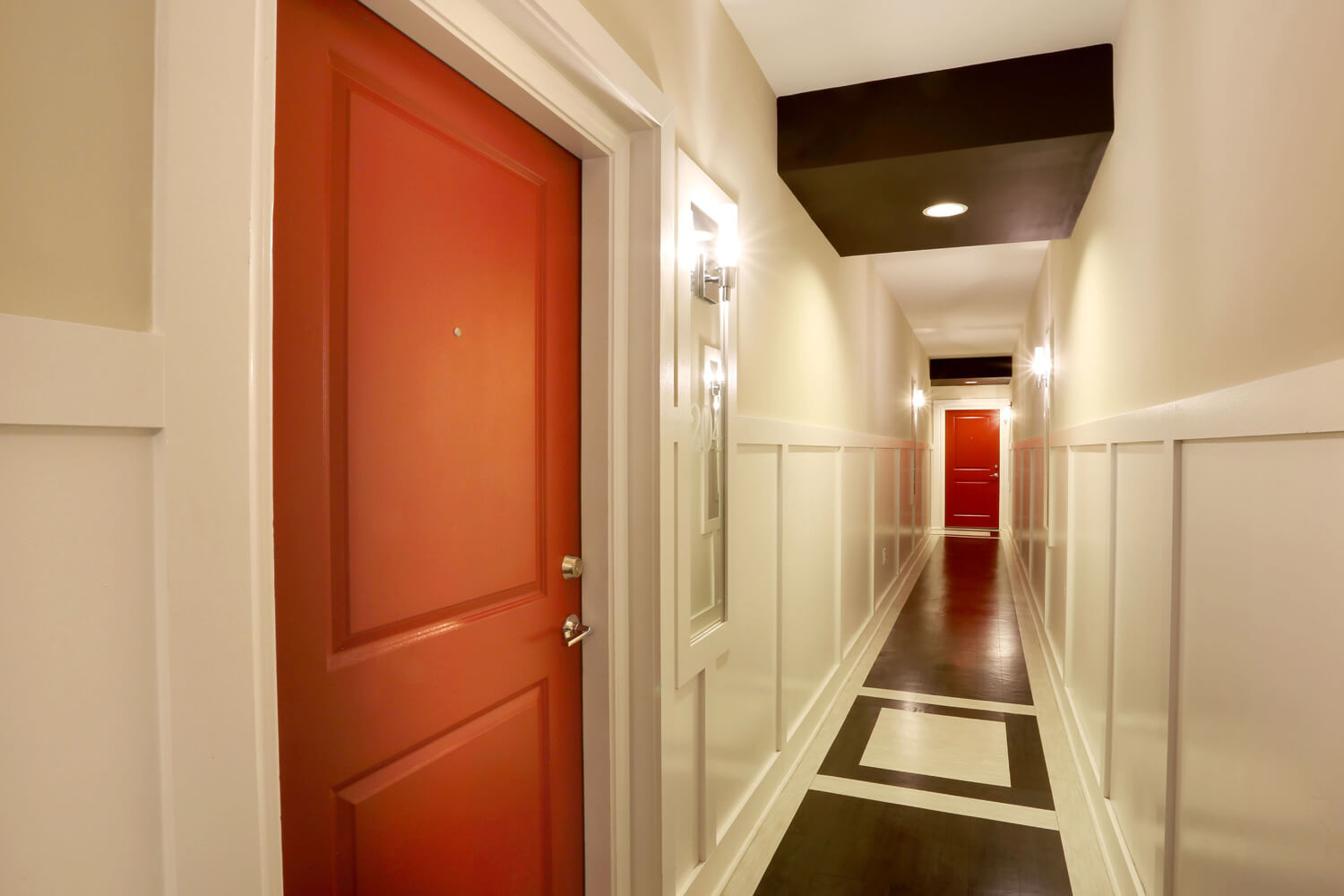 The 40 Four Building Designed by Foshee Architecture – View of Interior Hallway