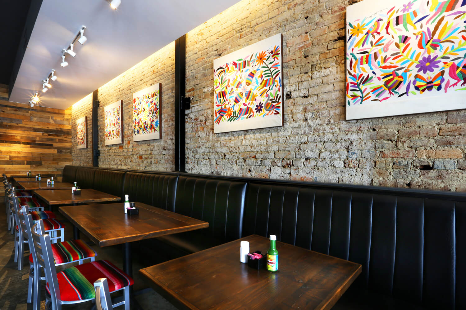 Cuco's Mexican Café Restaurant Designed by Foshee Architecture – View of Booth Seating