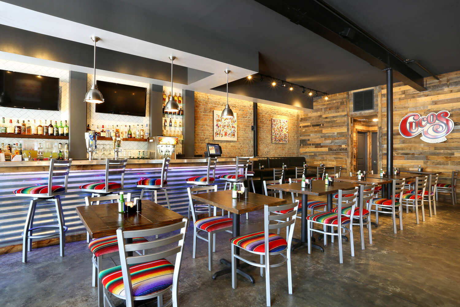 Cuco's Mexican Café Restaurant Designed by Foshee Architecture – View of Seating Area