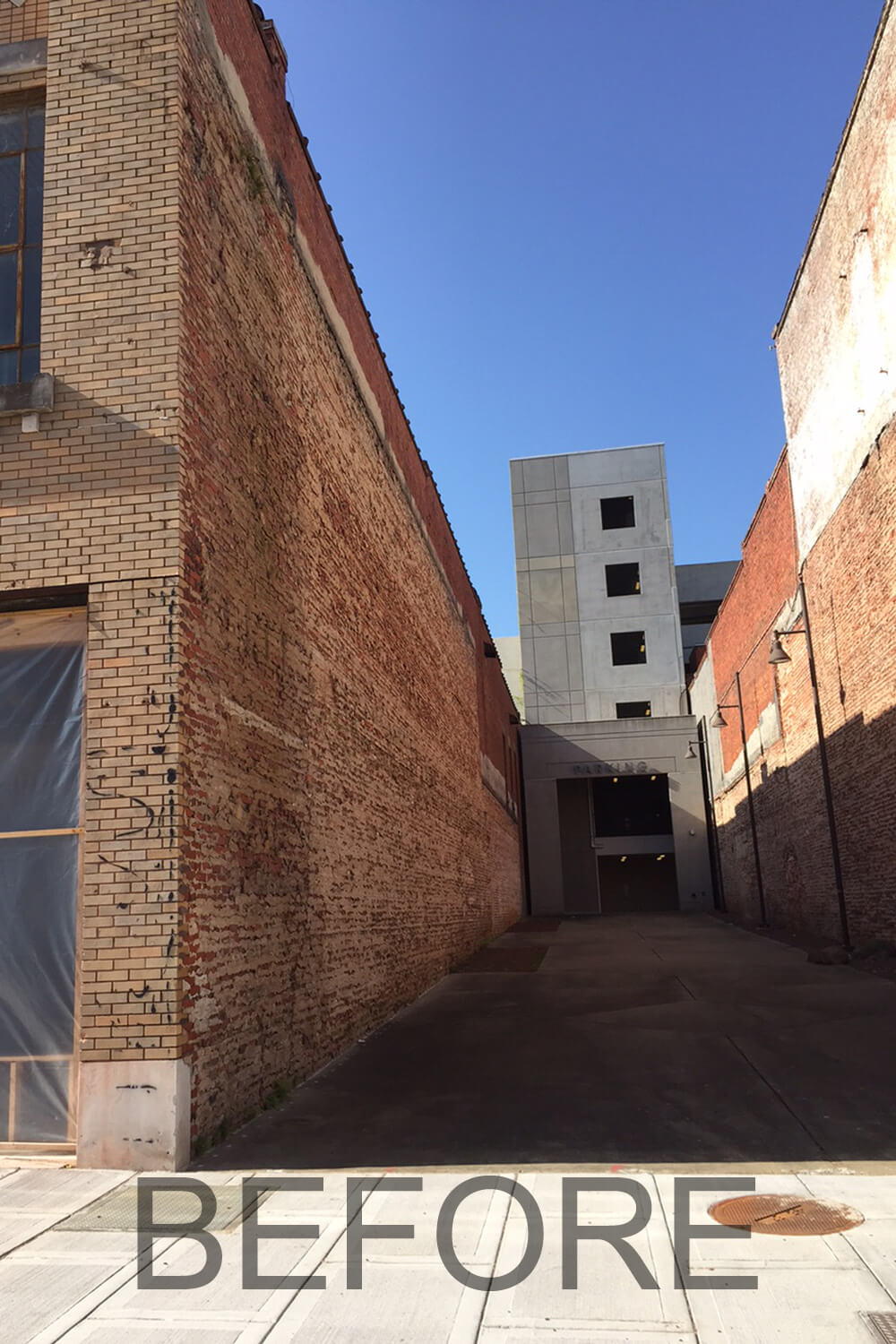 Dexter Alley Park Designed by Foshee Architecture - View Before Renovations