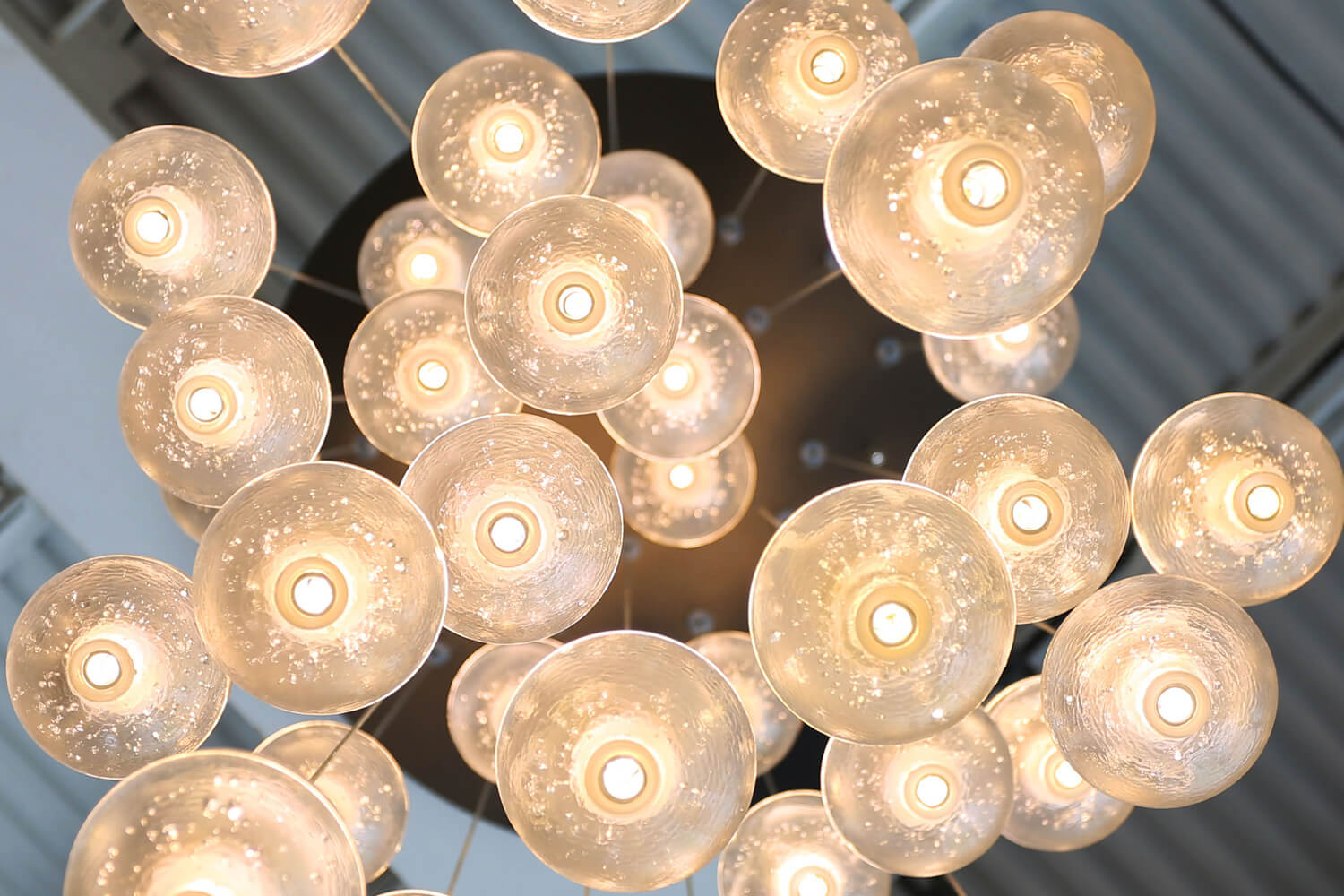 District 36 Lofts Designed by Foshee Architecture - Front Lobby Chandelier