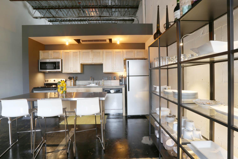 District 36 Lofts Designed by Foshee Architecture - Apartment Kitchen Island