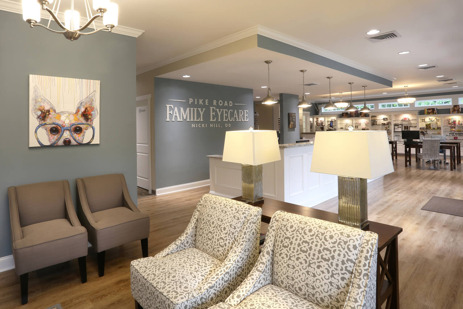 Pike Road Family Eyecare Designed by Foshee Architecture – Close up of Seating Area