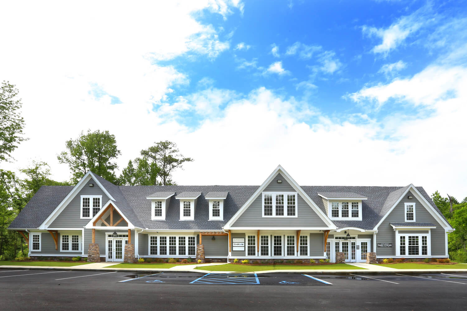 Pike Road Family Eyecare Designed by Foshee Architecture – View of Front Elevation