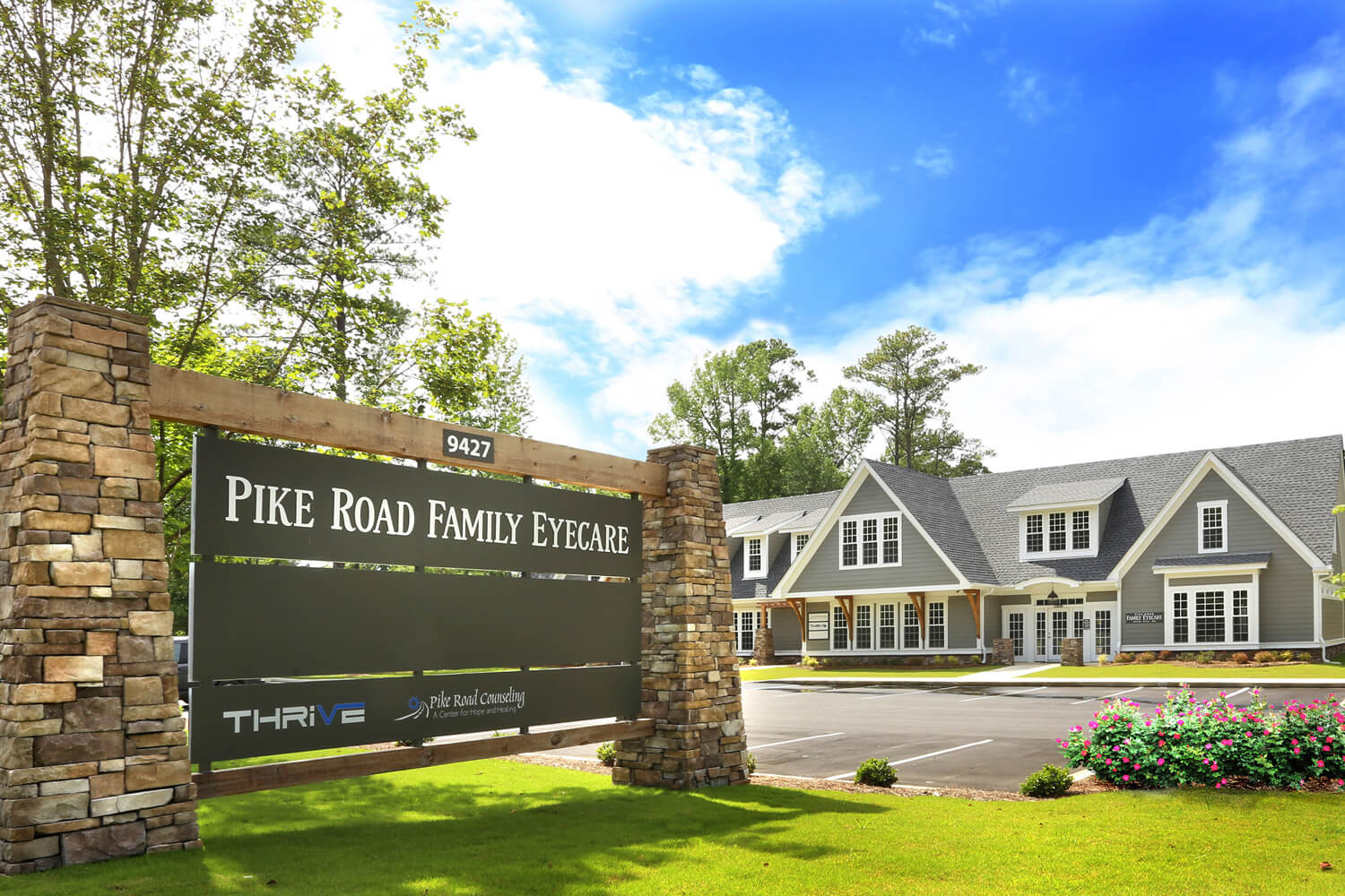 Pike Road Family Eyecare Designed by Foshee Architecture – Sign at the Front Entrance