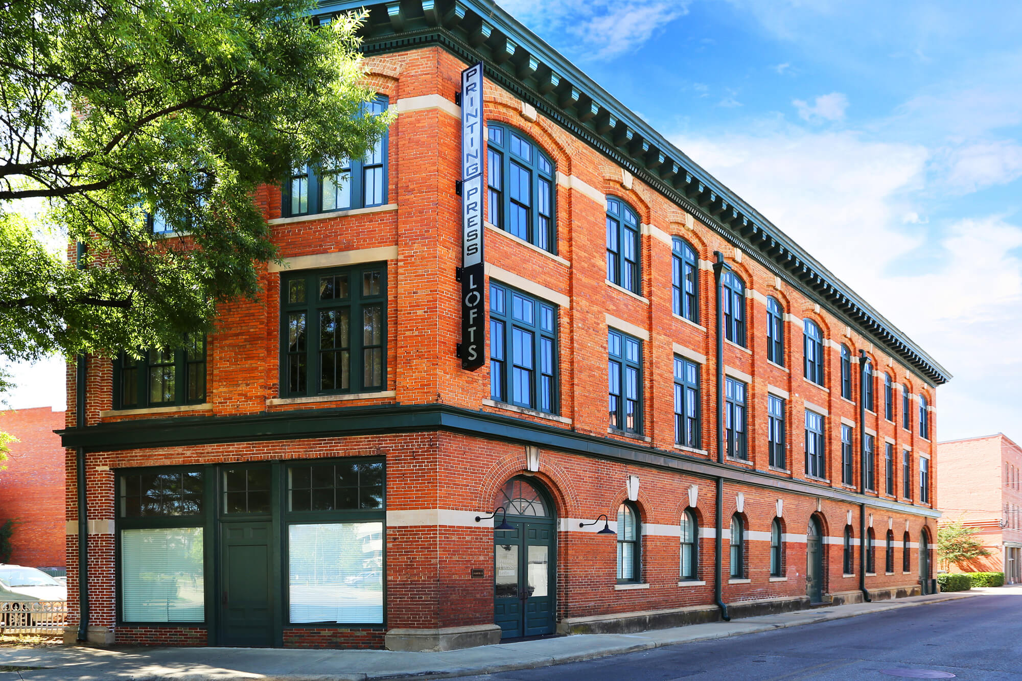 Printing Press Lofts Designed By Foshee Architecture   View Of The Exterior