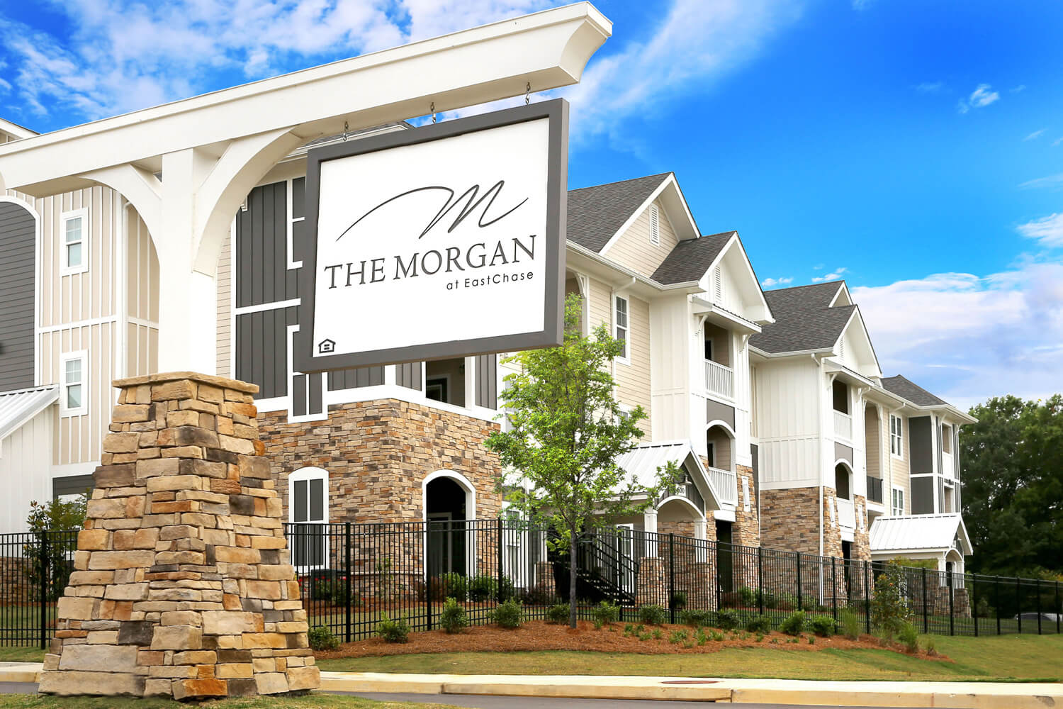The Morgan Apartments Designed by Foshee Architecture - Entry Sign