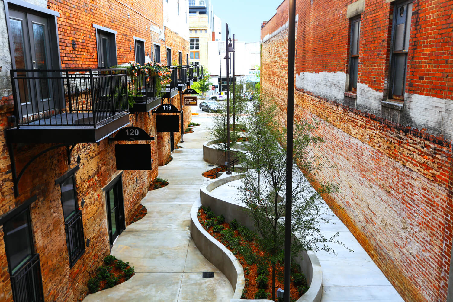 Dexter Alley Park Designed by Foshee Architecture – Aerial View Nearing Completion