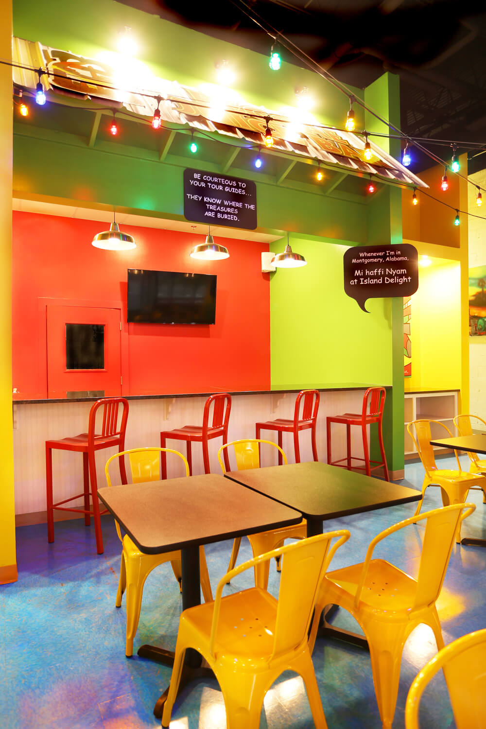 Designed by Foshee Architecture – Island Delight Restaurant Awning at Juice Bar
