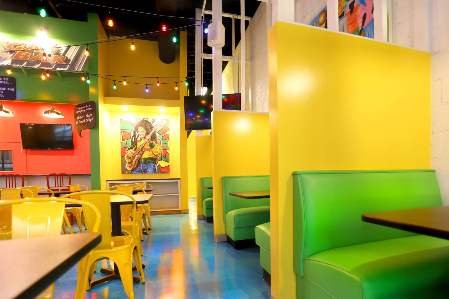 Designed by Foshee Architecture – Island Delight Restaurant Booth