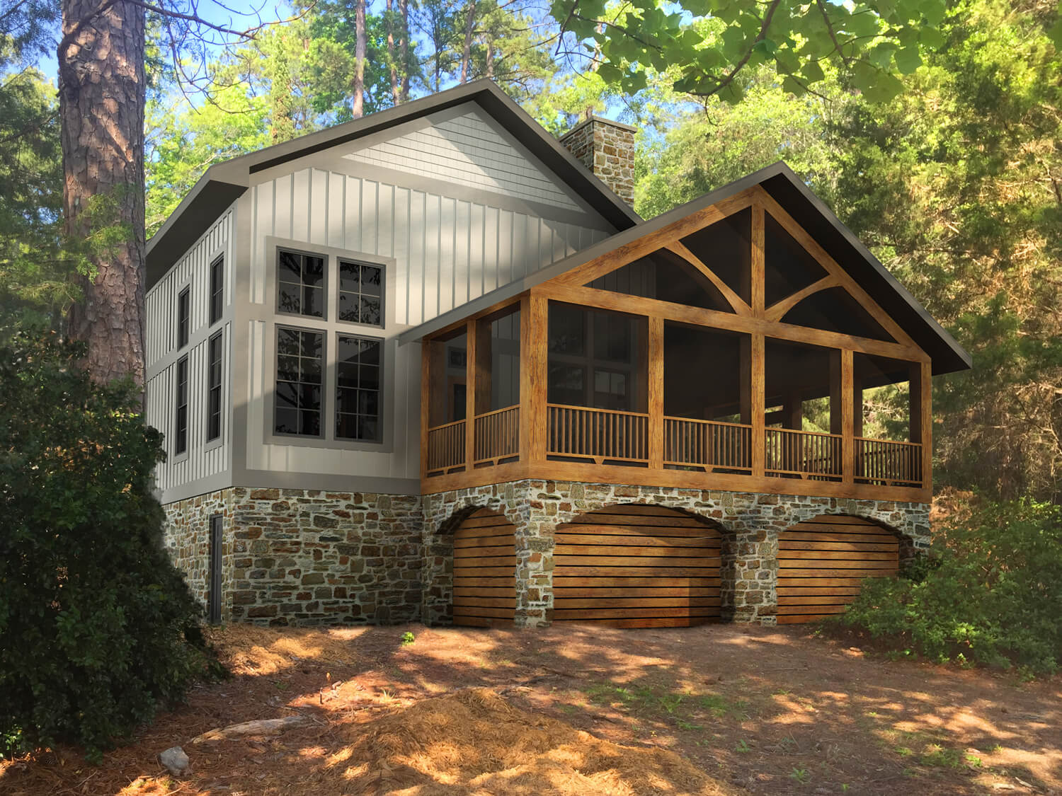 Designed by Foshee Architecture – Lake House 2 Front Porch