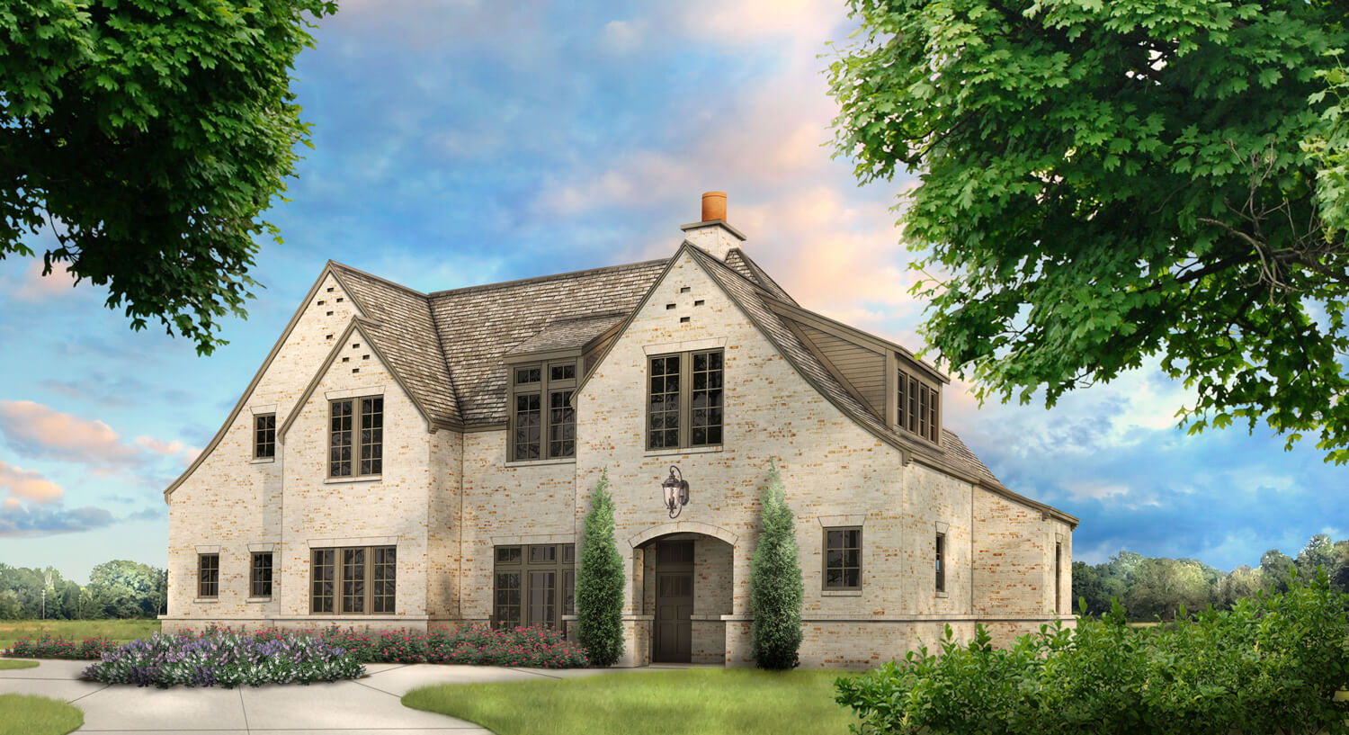 Designed by Foshee Architecture – Private Residence 1 Front Elevation