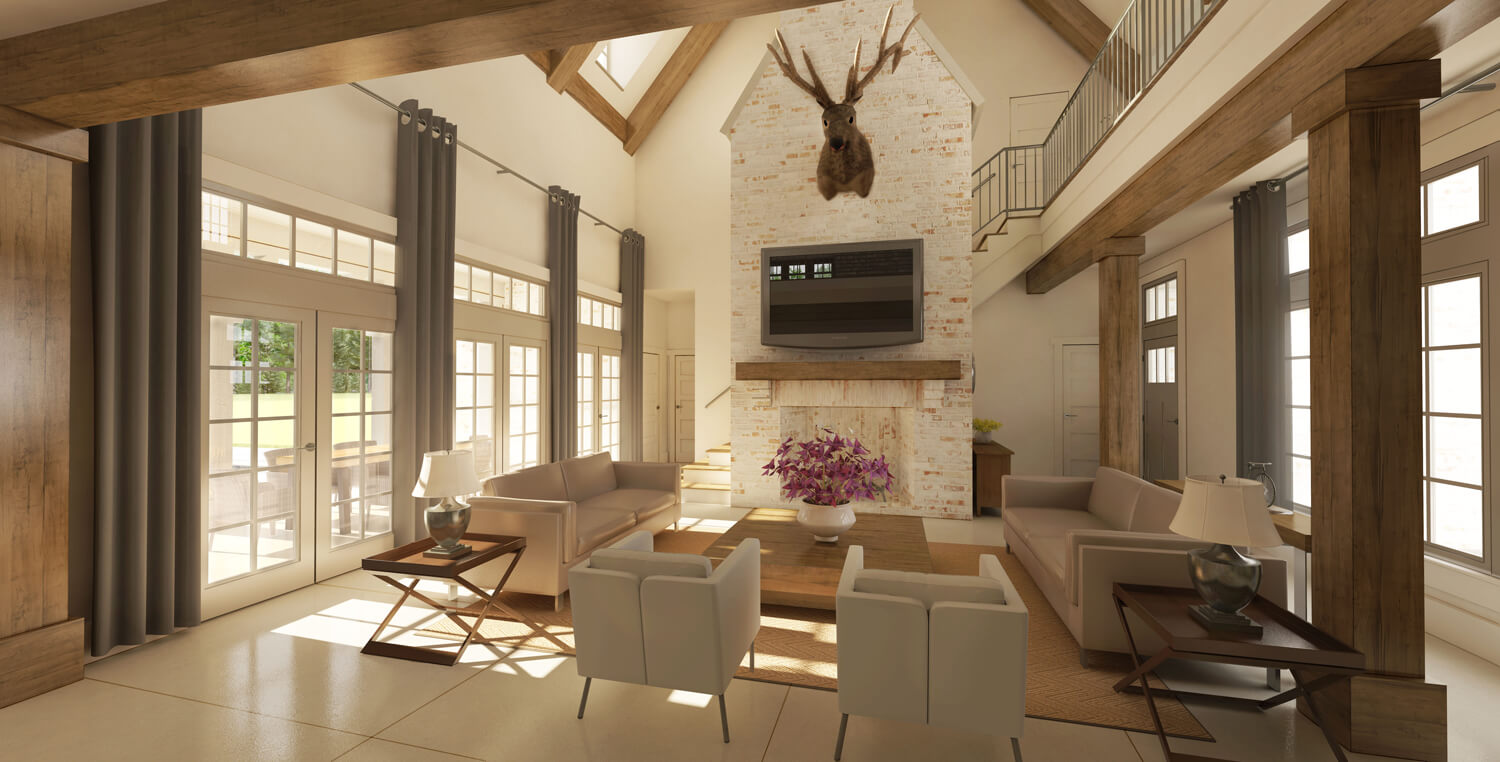 Designed by Foshee Architecture – Private Residence 1 Interior Living Room