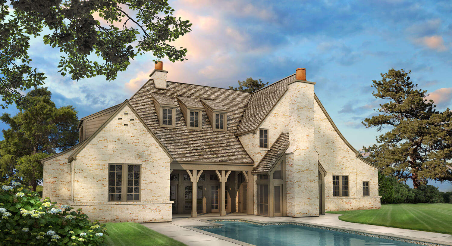 Designed by Foshee Architecture – Private Residence 1 Rear Perspective