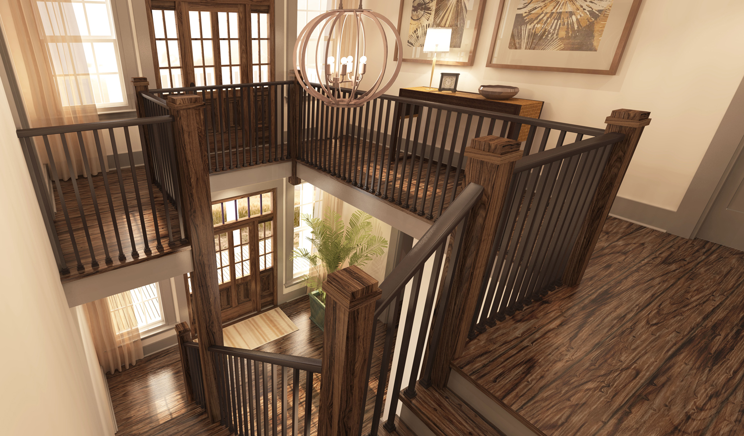 Designed by Foshee Architecture – Private Residence 2 Front Foyer
