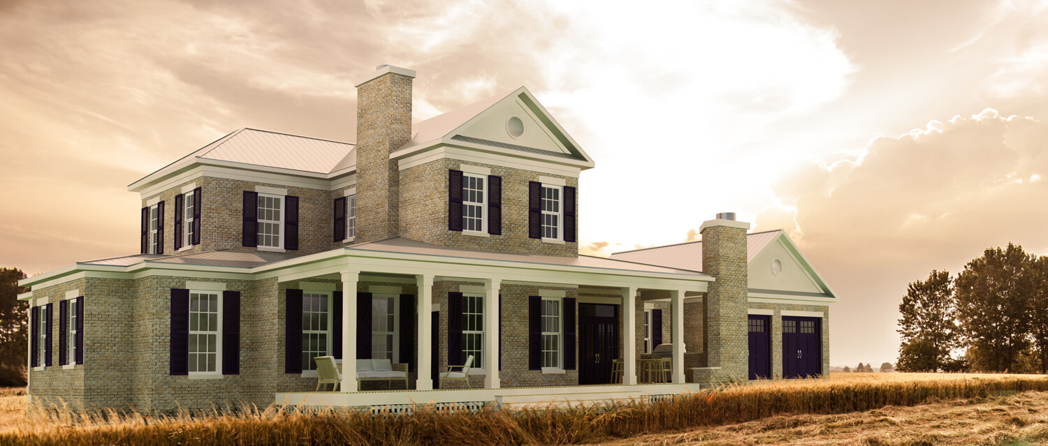 Designed by Foshee Architecture – Private Residence 2 Rear Perspective