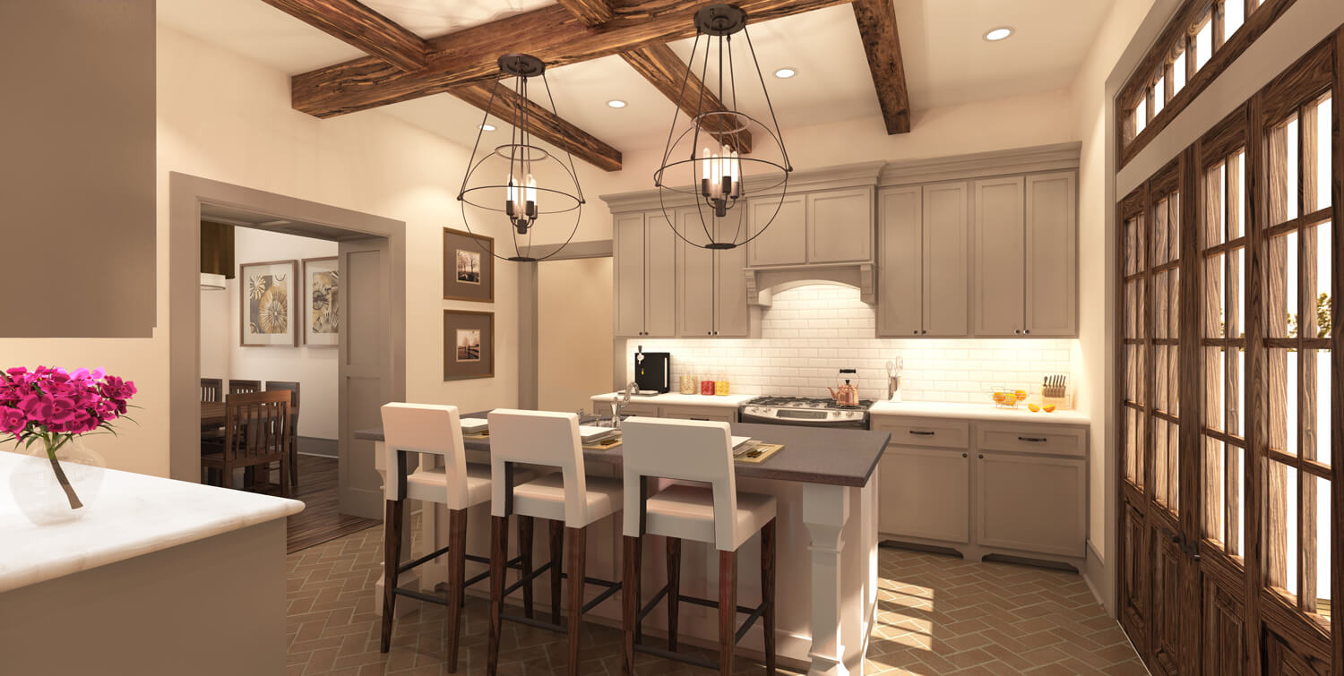Designed by Foshee Architecture – Private Residence 2 View of Kitchen