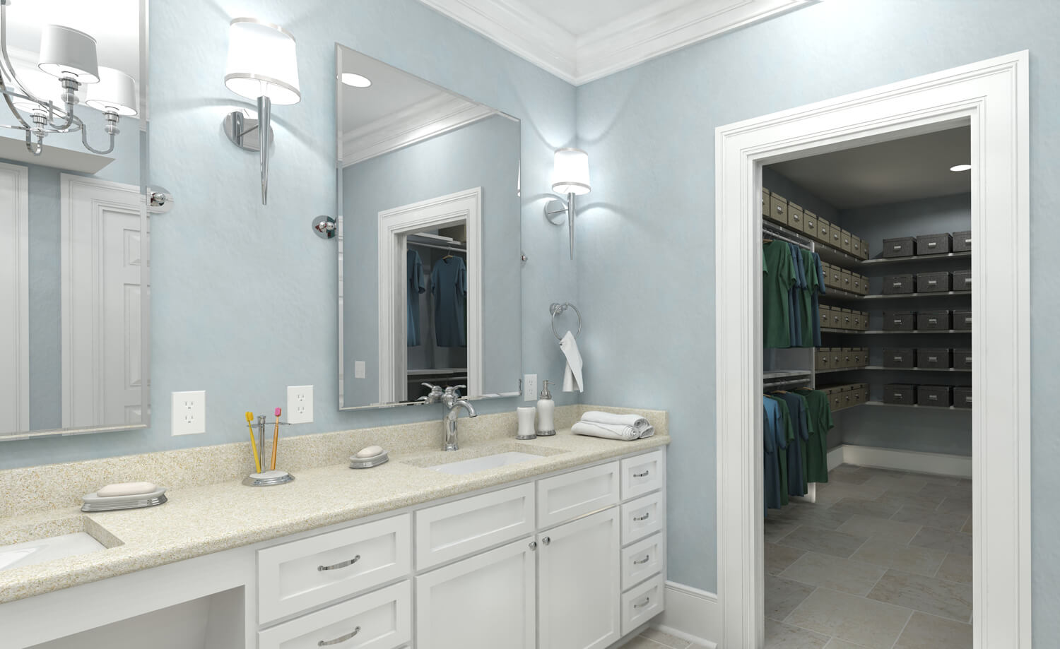 Designed by Foshee Architecture – Private Residence 3 Vanity and Closet