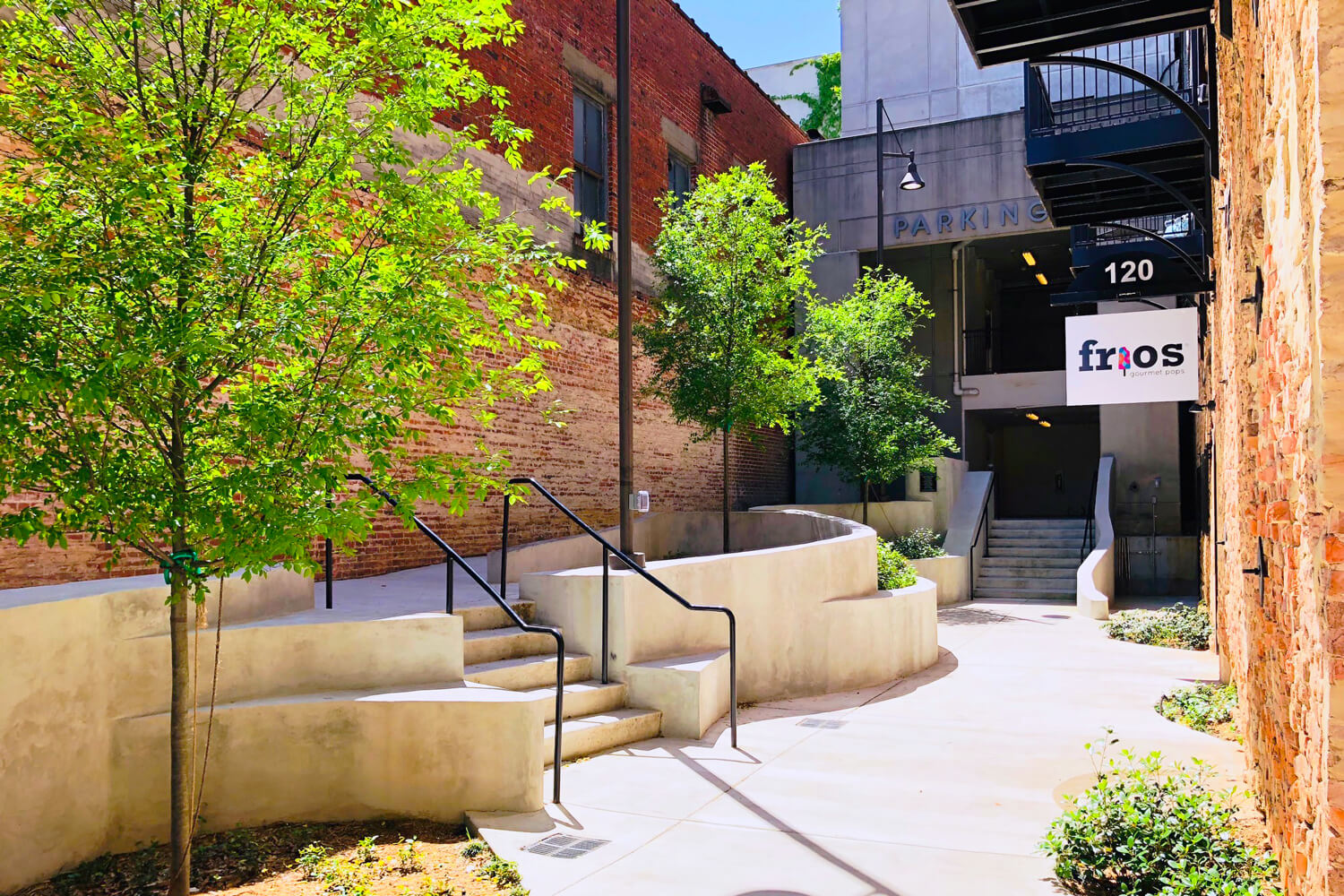 Dexter Alley Looking Towards Parking Deck - Designed by Foshee Architecture