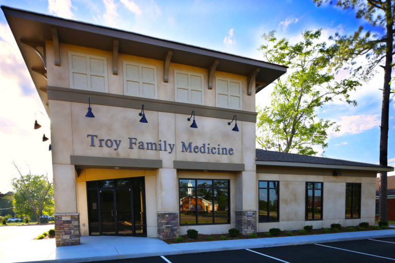 Troy Family Medicine Front Elevation - Designed by Foshee Architecture