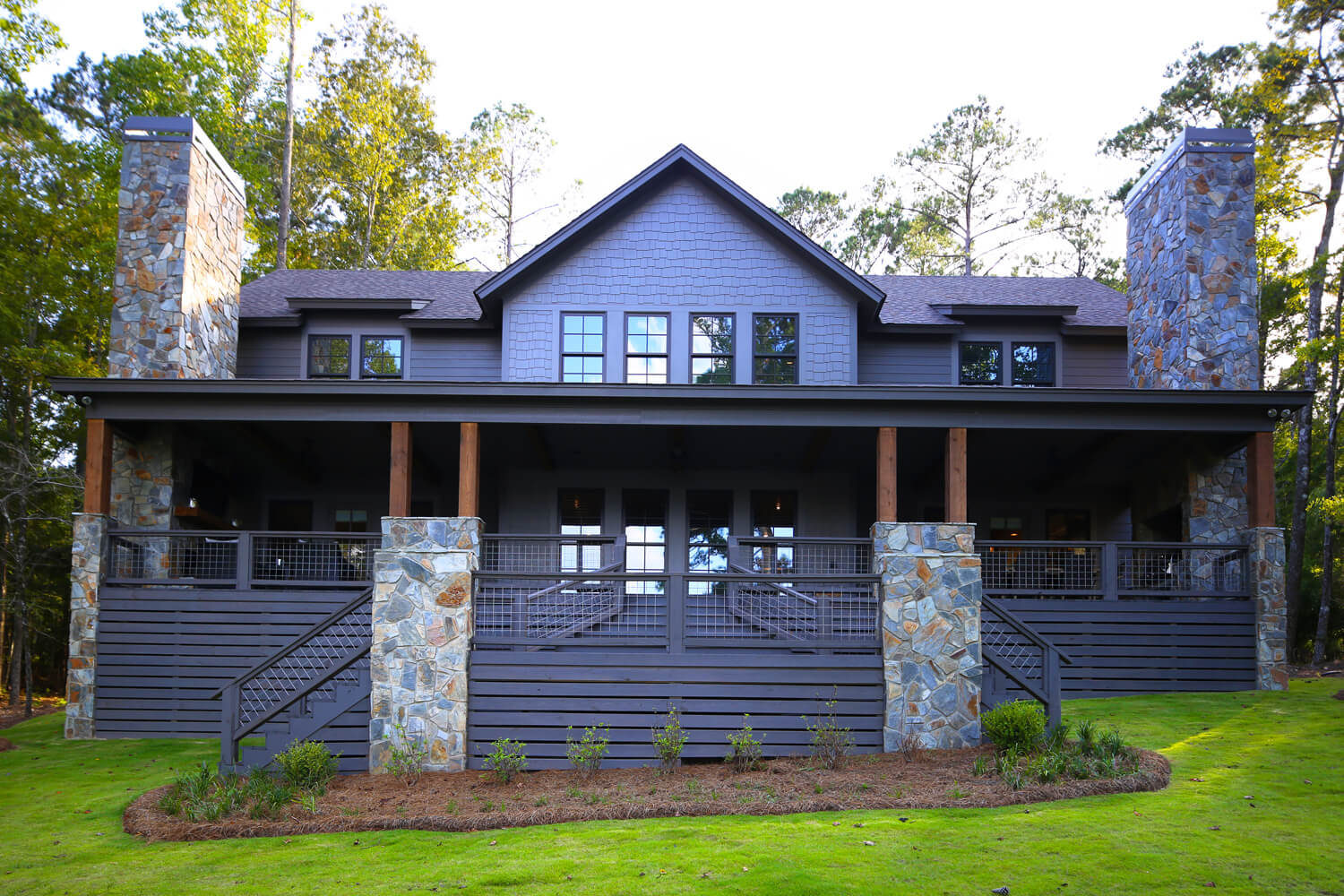 Lake Martin Cabin - Front Elevation - Designed by Foshee Architecture