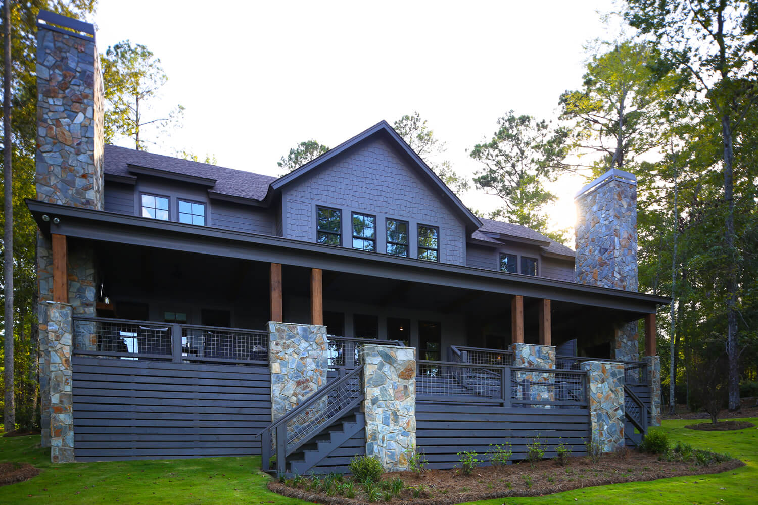 Lake Martin Cabin - Front Perspective - Designed by Foshee Architecture