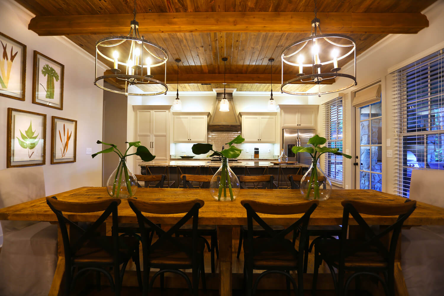 Lake Martin Cabin - Interior View of Dining Room - Designed by Foshee Architecture