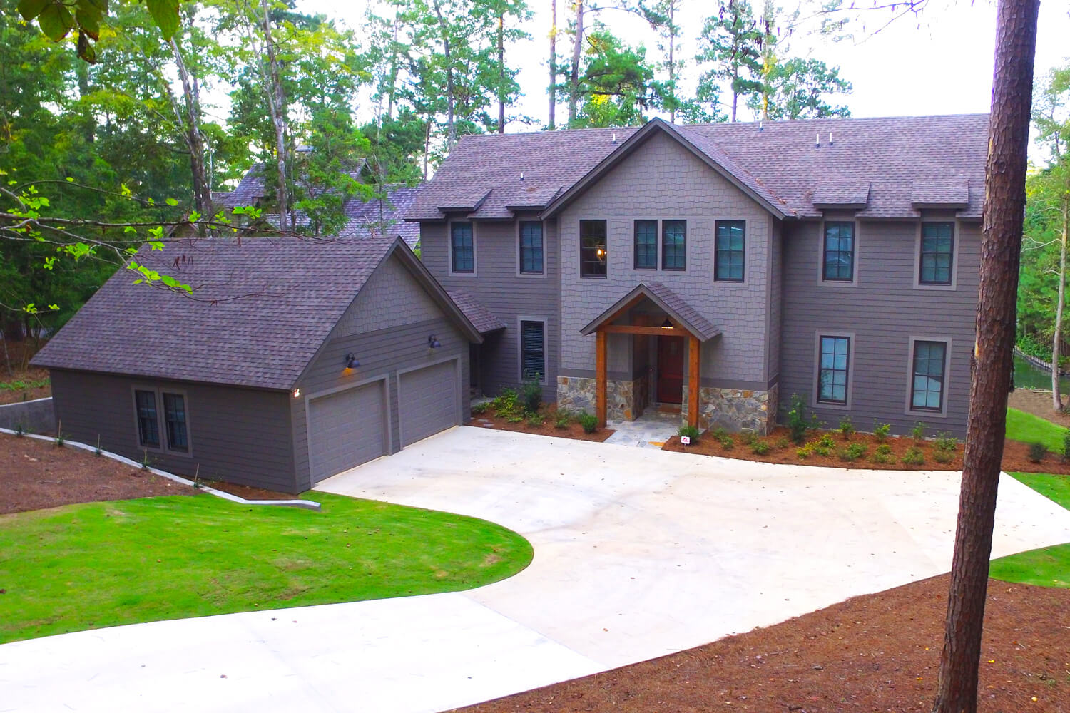 Lake Martin Cabin - Rear Elevation - Designed by Foshee Architecture