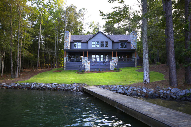 Lake Martin Cabin - View from Pier - Designed by Foshee Architecture