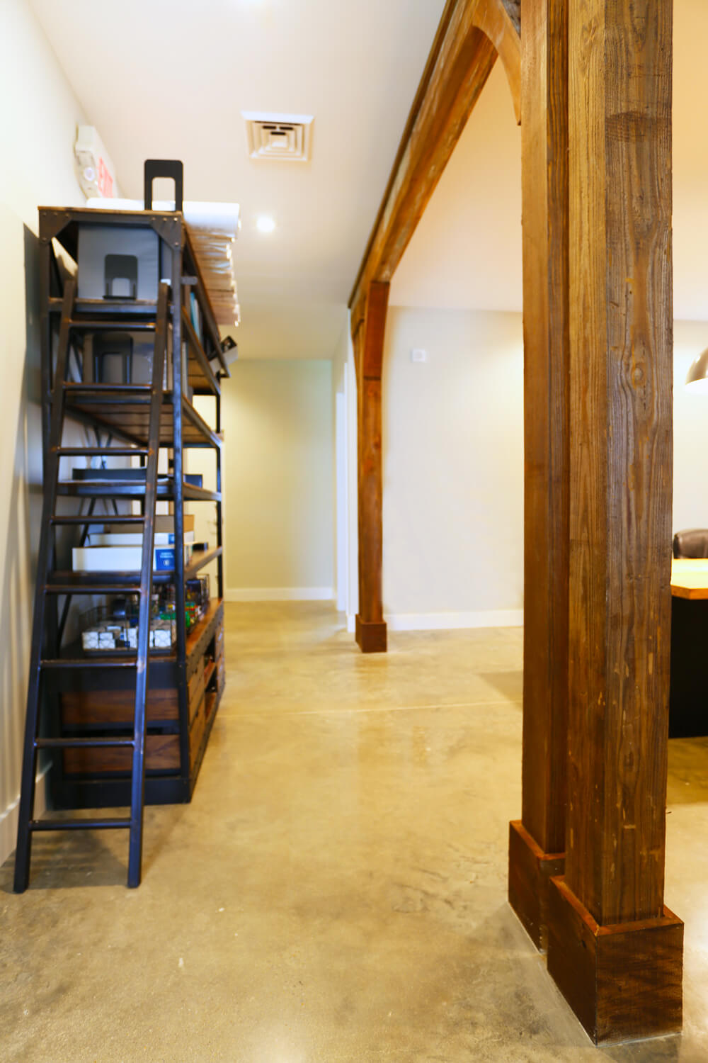 Johnson Office - Columns and Beams - Designed by Foshee Architecture
