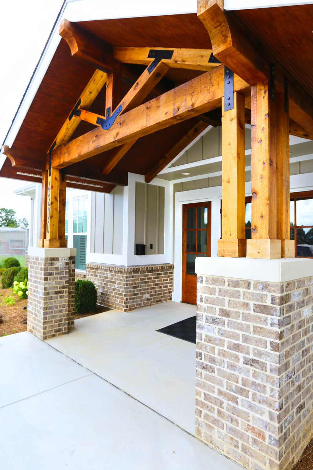 Johnson Office - Covered Entrance - Designed by Foshee Architecture