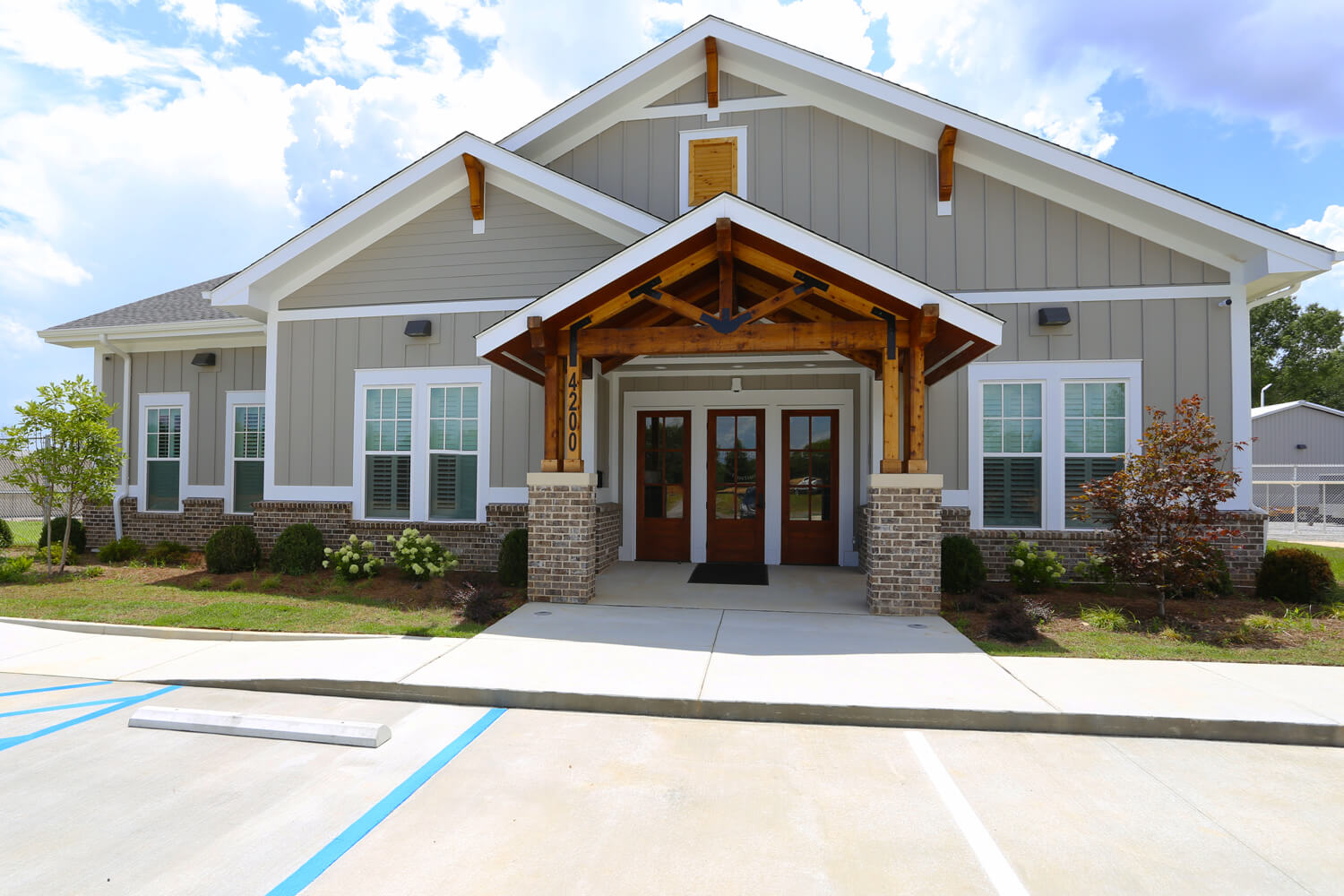 Johnson Office - Front Elevation - Designed by Foshee Architecture