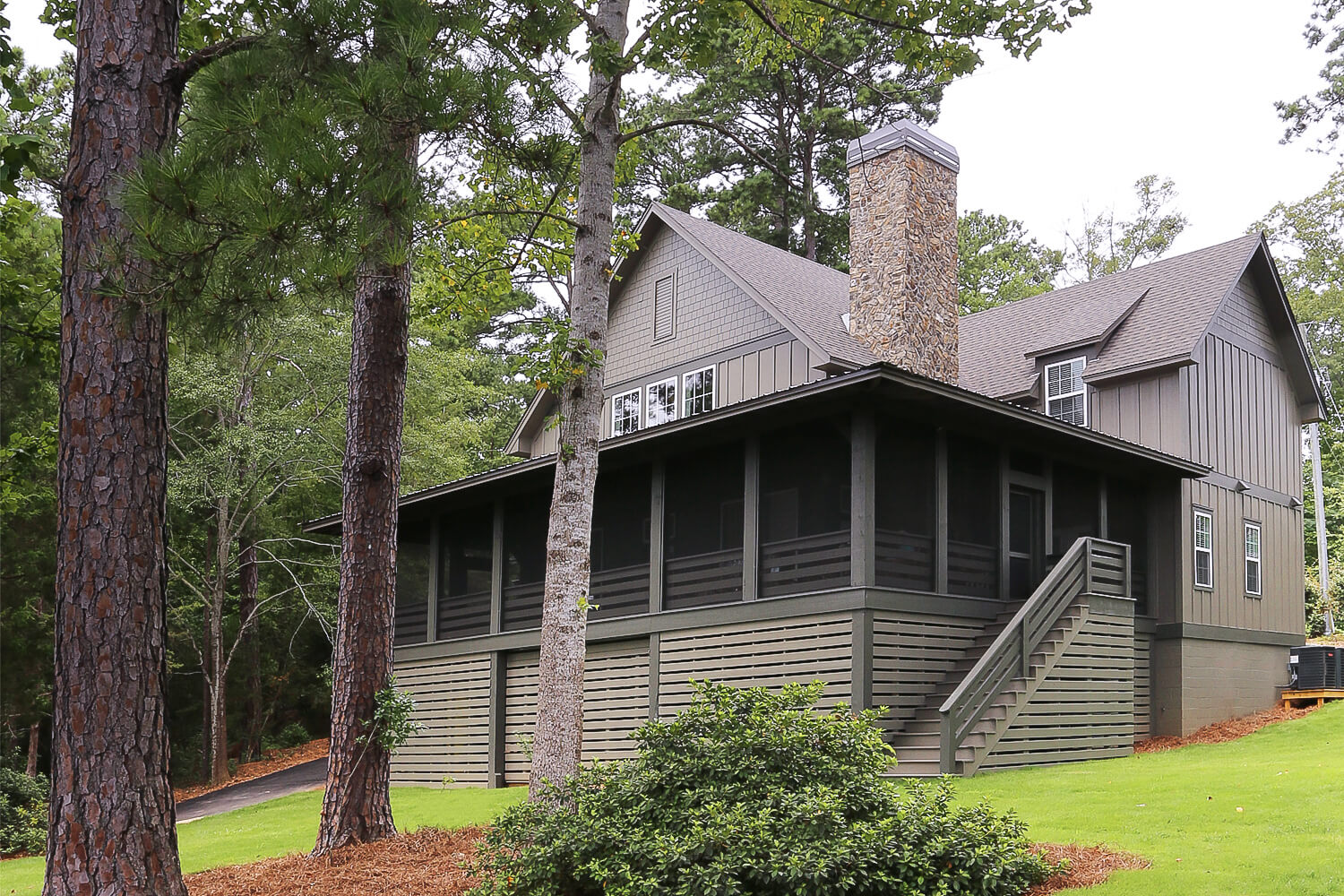 Lake Home - Front Elevation - Designed by Foshee Architecture