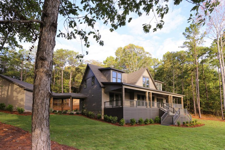Lake House - Front Elevation - Designed by Foshee Architecture