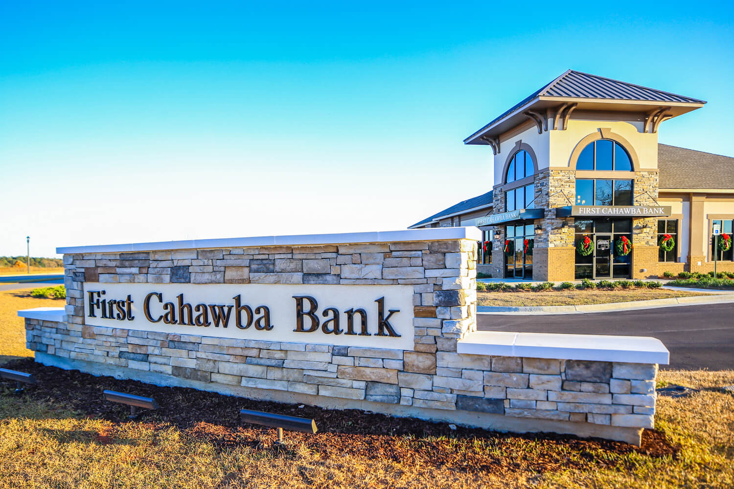 First Cahawba Bank - Front Sign - Designed by Foshee Architecture