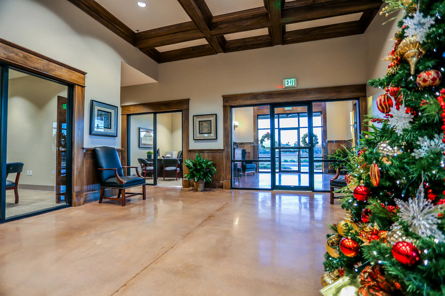 First Cahawba Bank - View of Front Entry - Designed by Foshee Architecture