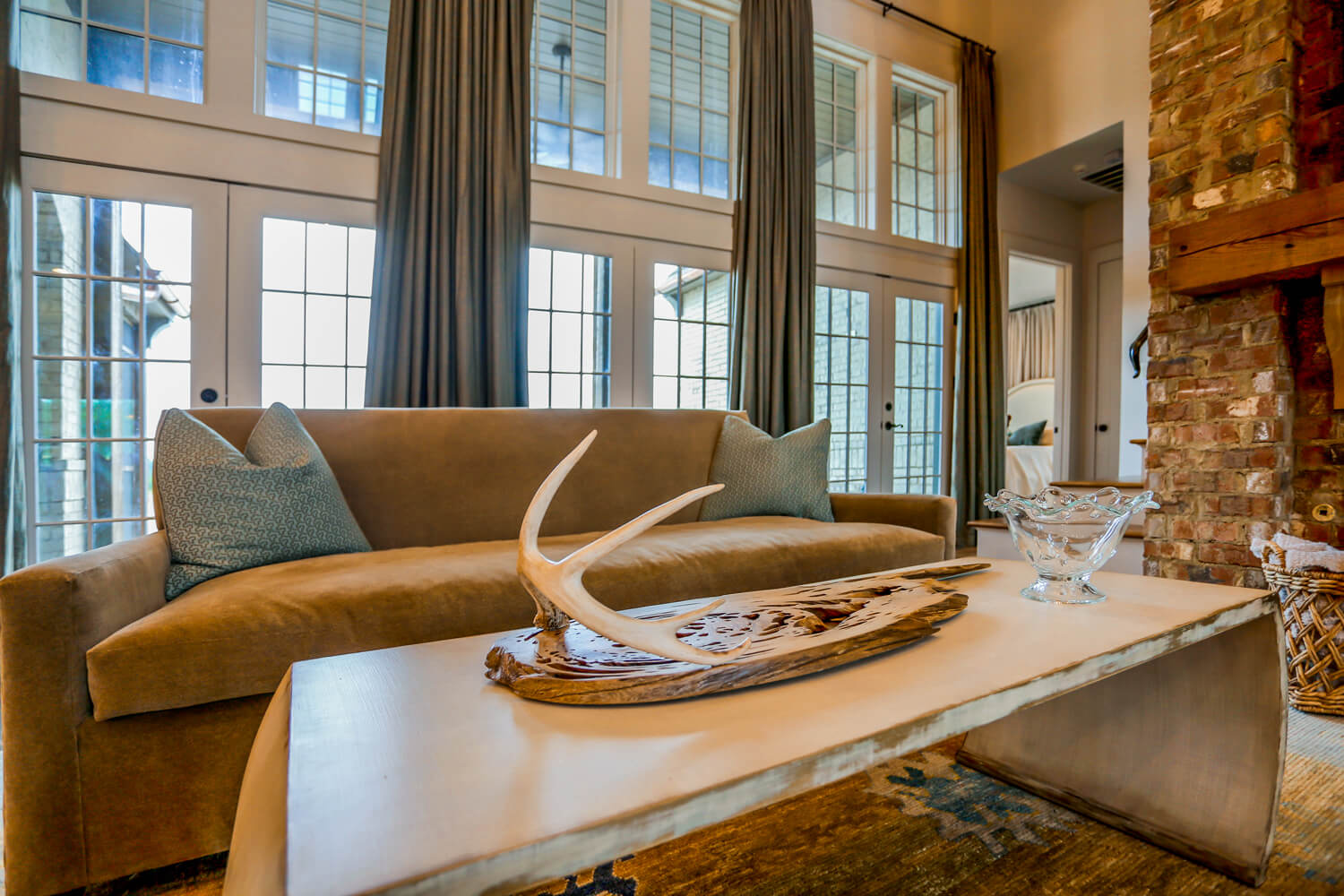 Private Residence - View from Coffee Table - Designed by Foshee Architecture