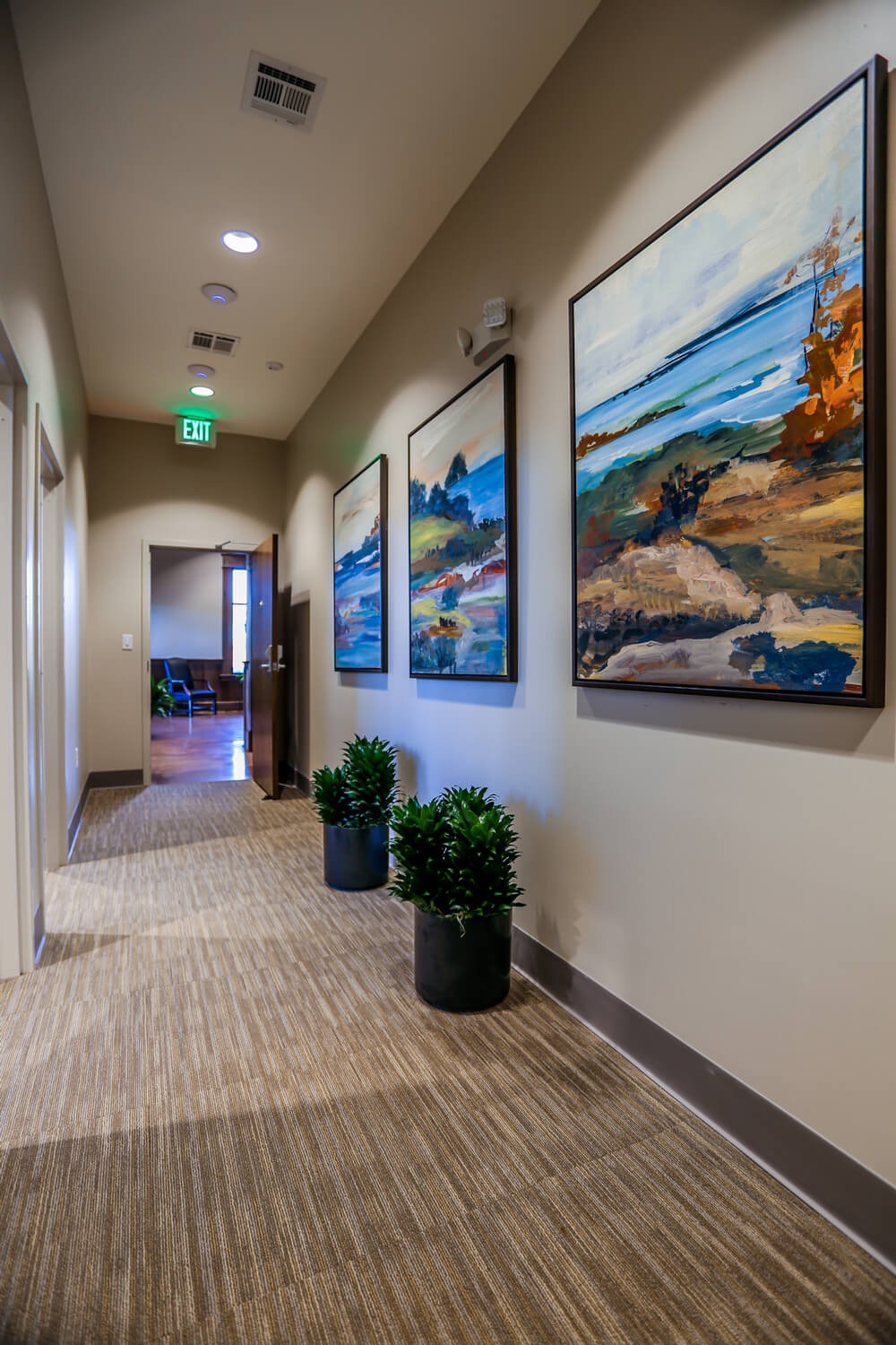 First Cahawba Bank - Hallway - Designed by Foshee Architecture