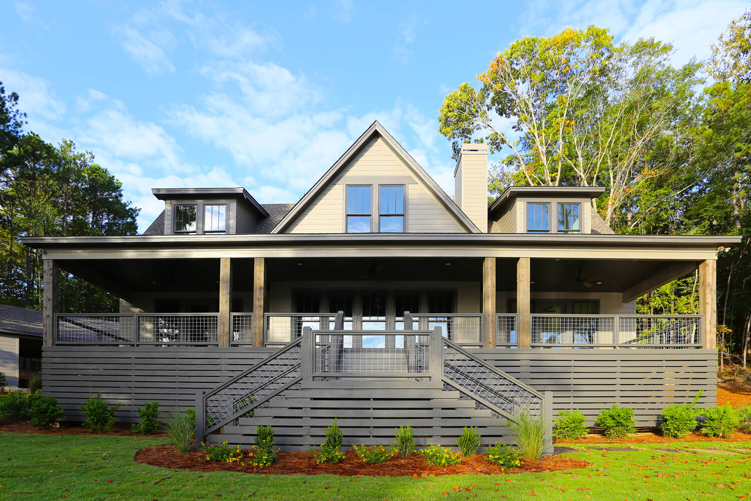 Lake House - Front Porch - Designed by Foshee Architecture