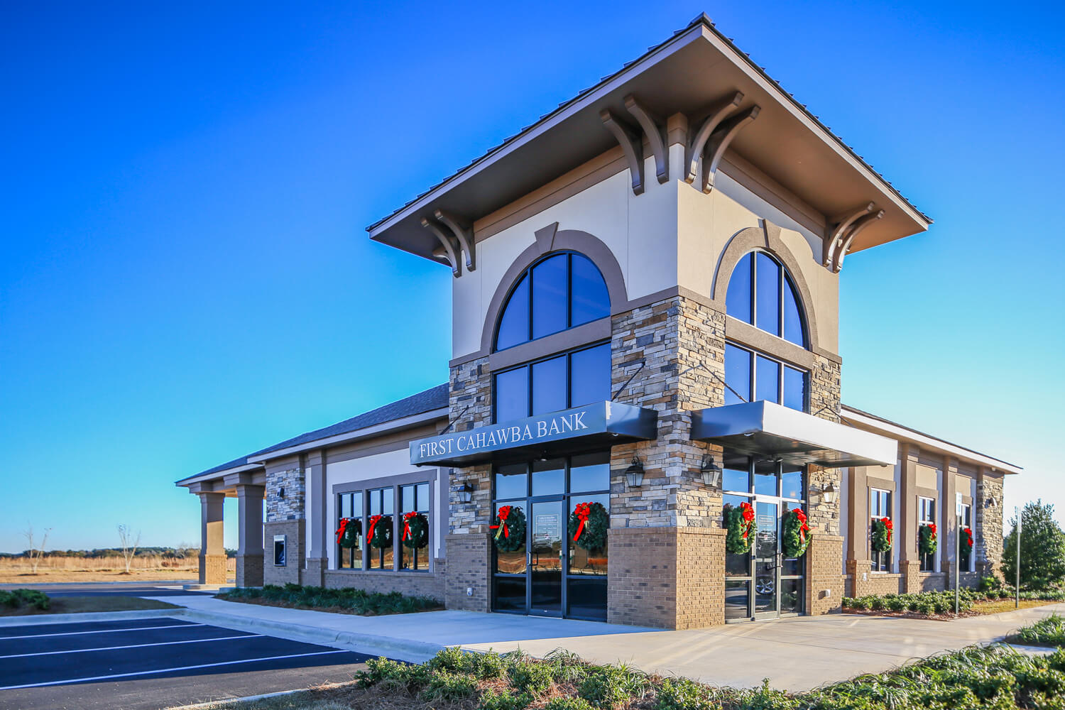 First Cahawba Bank - Front Elevation - Designed by Foshee Architecture