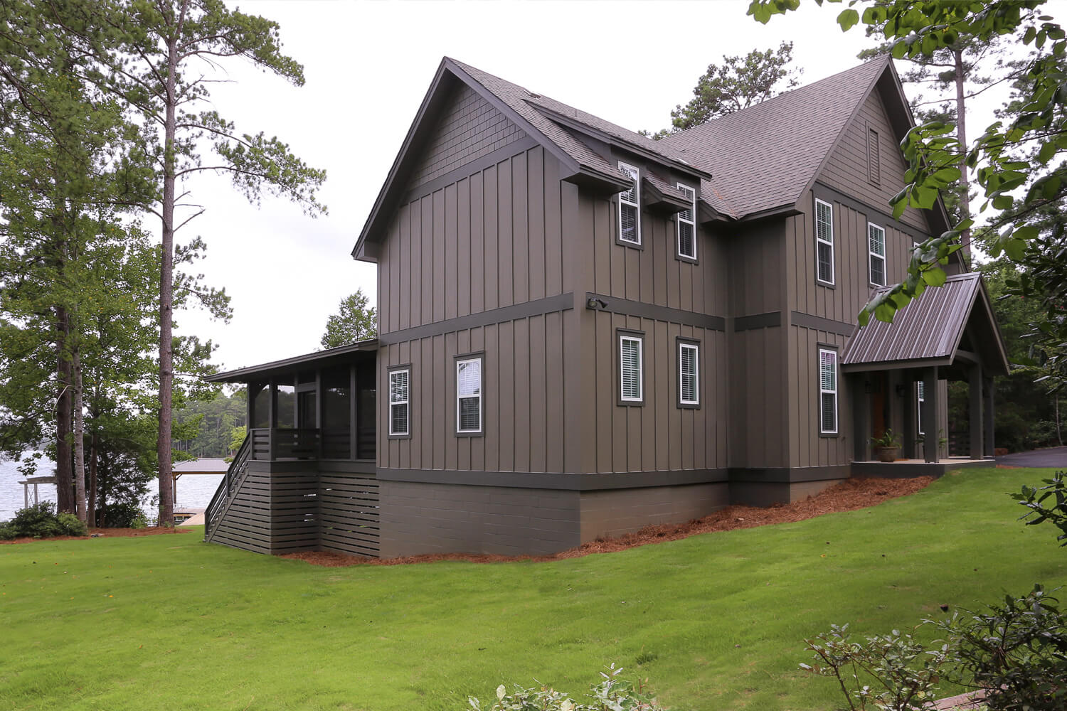 Lake Home - Side Elevation - Designed by Foshee Architecture