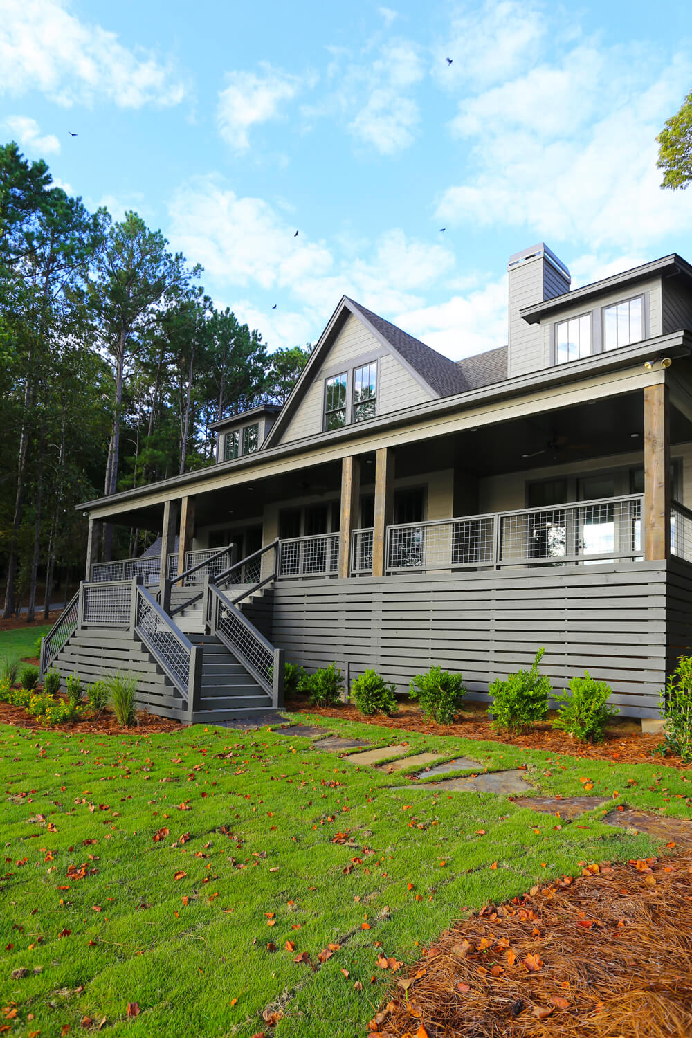 Lake House - Front Perspective - Designed by Foshee Architecture