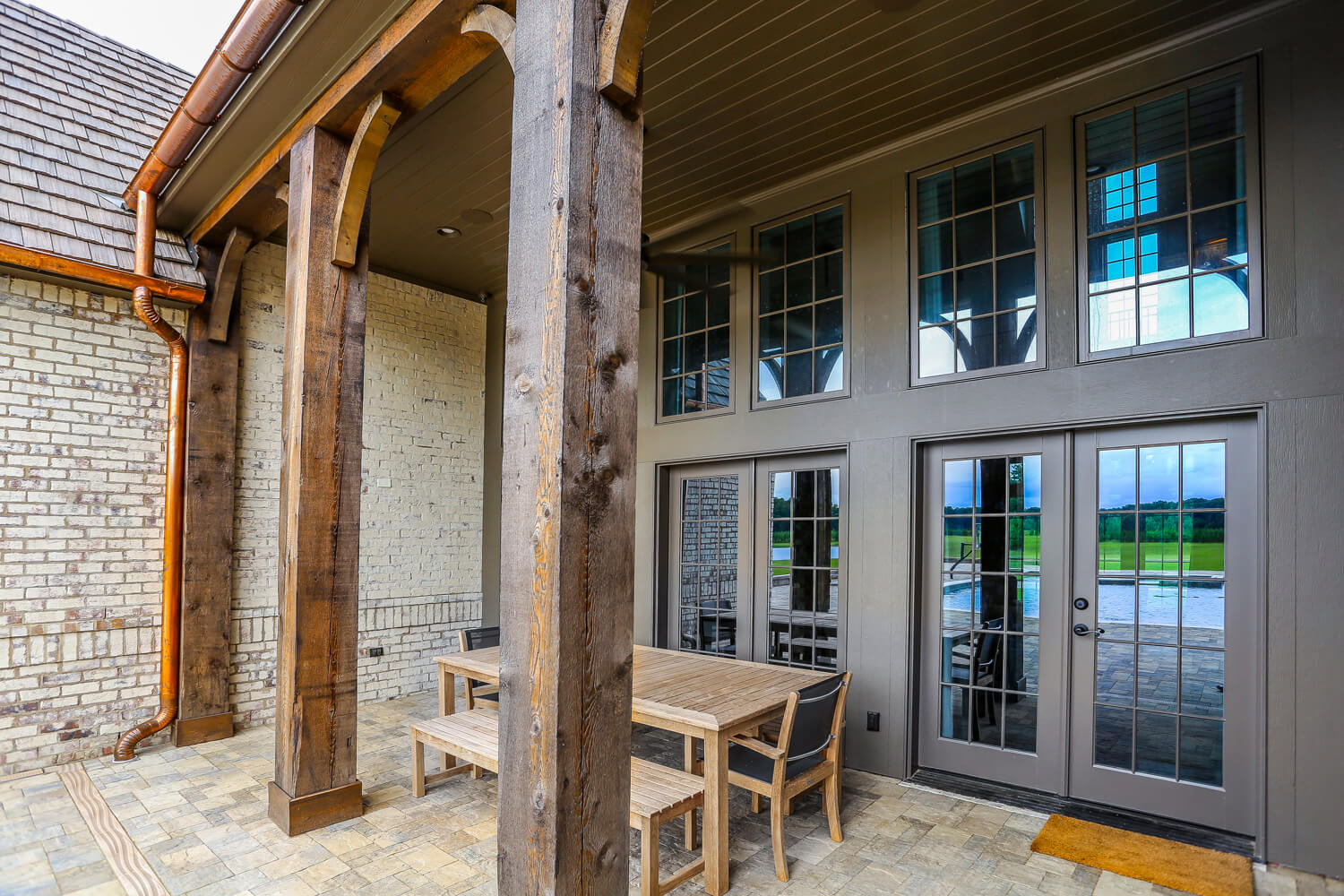 Private Residence - Rear Porch - Designed by Foshee Architecture