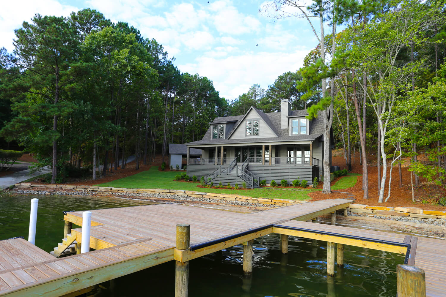 Lake House - View from the Pier - Designed by Foshee Architecture