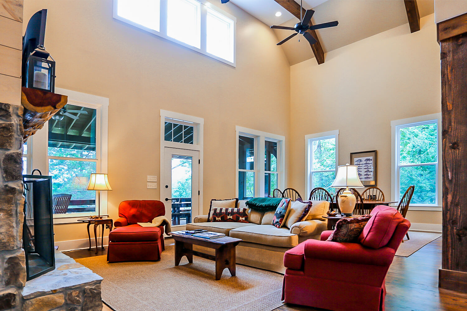 Lake Home - Living Room - Designed by Foshee Architecture