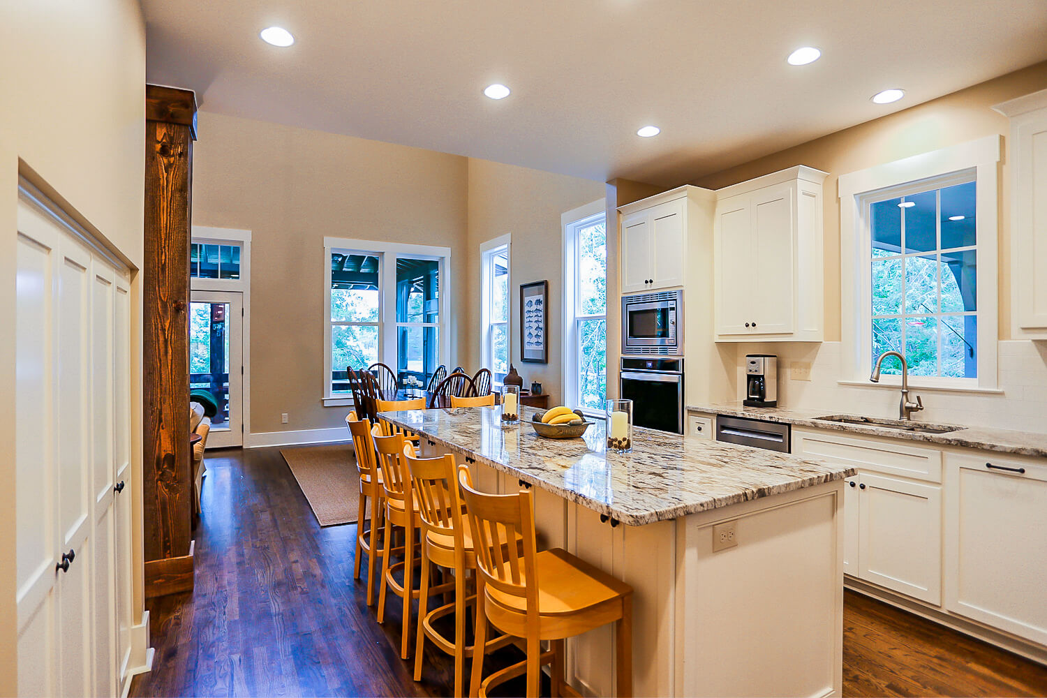 Lake Home - Kitchen Island - Designed by Foshee Architecture