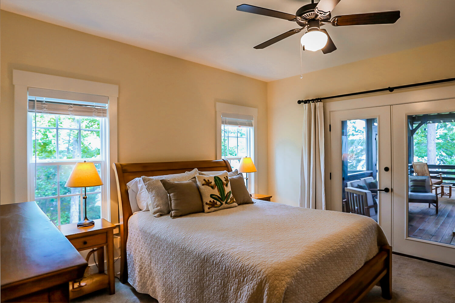 Lake Home - Master Bedroom - Designed by Foshee Architecture